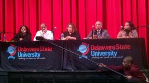 Deirdre C. Hopkins, Dr. Ahati Toure, Dr. Candice Love Jackson, Dr. Jerry Ward Jr. and actress Tiffany.